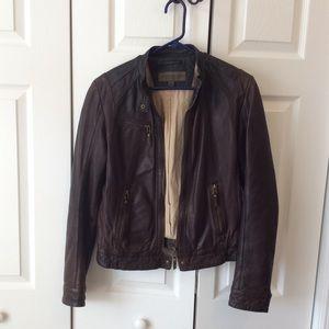Andrew Marc New York Brown Bomber Jacket